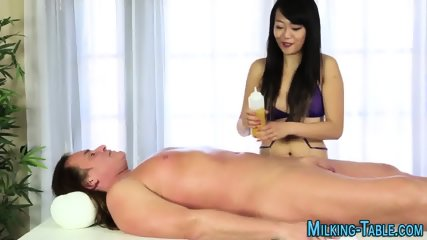 Asian masseuse guzzles