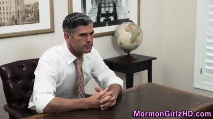 Kinky mormon gets cumshot