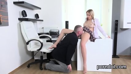Sensual college girl was seduced and poked by her senior instructor