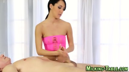 Slut rides massage client
