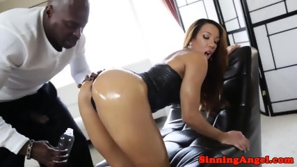 Assfucked ebony babe gets ravaged