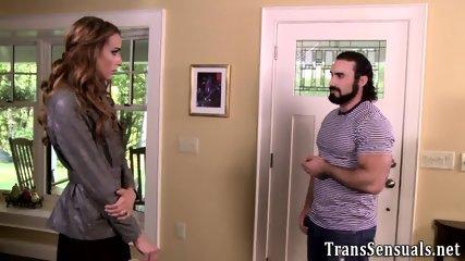 Transgender babe gobbles