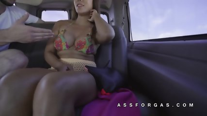Tiffany Rain shows big asian tits off