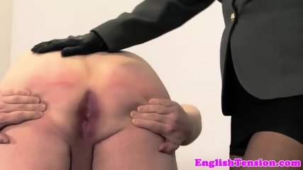 Domina toying and whipping her pathetic sub