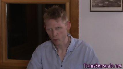 Rimmed transgender cums