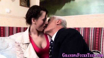 Teen rides geriatric dick