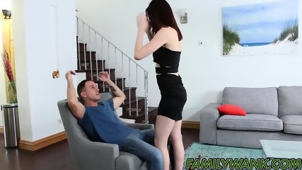 Hailey Little hops on stepbros dick and takes it for a ride
