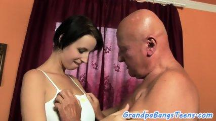 Bigtit eurobabe bangs grandpa