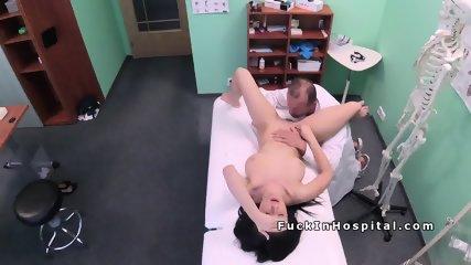 Euro doctor licks and fucks friends girl in fake hospital