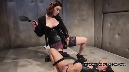 Female doctor anal fucked bound patient