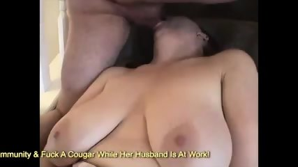 Chubby redhead milf fucking cock and gets facial