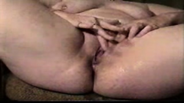 Woman with a very wet pussy masturbating