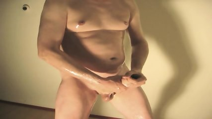 Robin Jerks His Shaved Oiled Uncut Monstercock 152