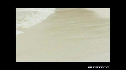 Private.com - Trio With DP On The Beach - scene 1