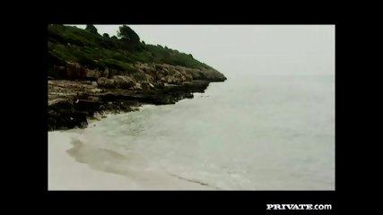 Private.com - Trio With DP On The Beach - scene 2