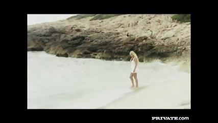 Private.com - Trio With DP On The Beach - scene 3