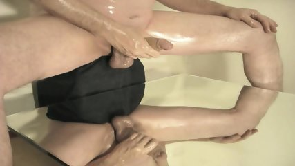 robin jerking his shaved oiled uncut monstercock 168