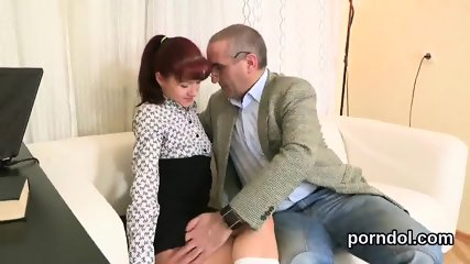 Natural schoolgirl gets seduced and fucked by her elderly teacher