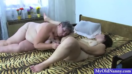 Plumper Nanny and Girl Share a Toy