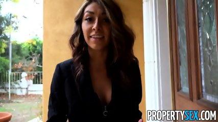 PropertySex Bad Real Estate Agent Kara Faux Fucks Outdoors - scene 1