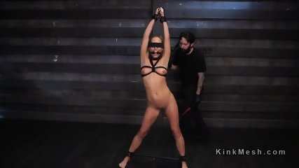 Bound slave gets dose of bdsm discipline