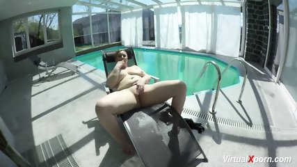 Milf 60 Fps - Big Breast Milf Masturbating At The Pool
