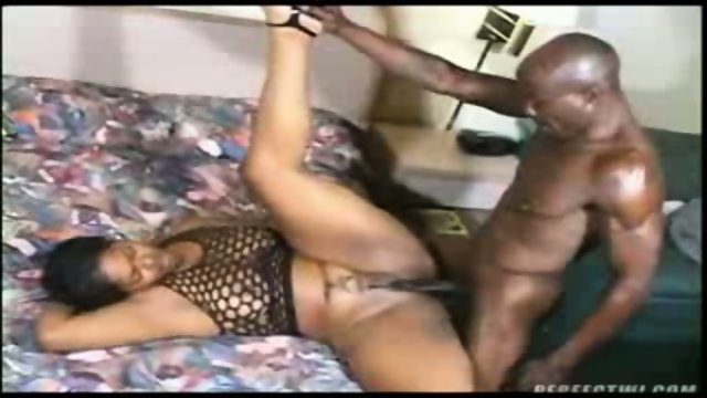 Phat ebony slut drilled by long black dick 1