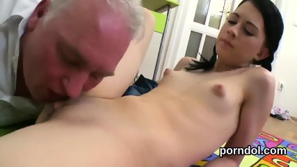Elegant college girl gets teased and screwed by her older teacher