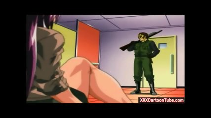 Two sexy women get fucked by bank bandits hentai