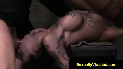 Bonnie Rotten drooling gagging cumming
