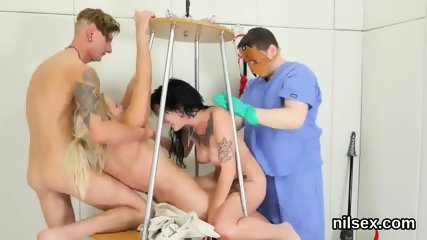 Nasty kitten is brought in asshole asylum for painful therapy