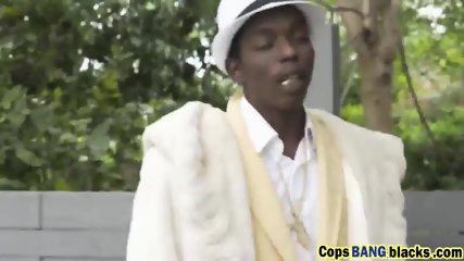 BBC fucking two slut female cops in a threesome way