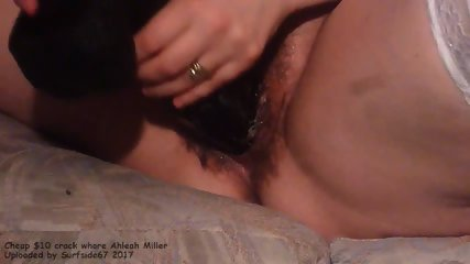 Cheap $10 crack whore Ahleah Miller - 2.8 inch thick dildo