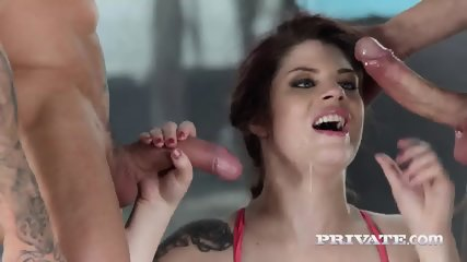 Private.com - Hardcore DP With Lucia Love - scene 5