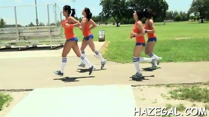 Group lesbian sex action