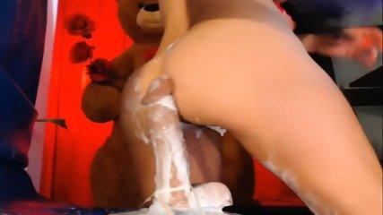 Mexican Milf Had A Sloppy Sextoy Creampie - scene 7