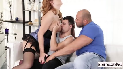 Eva gets fucked hard by Tomm and Nick in hot threesome