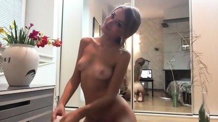 Petite Blonde Oily Striptease - scene 5