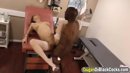 Dirty nurse Sky Rodgers blow huge black cock and takes it in her pussy - scene 9