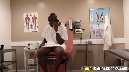Dirty nurse Sky Rodgers blow huge black cock and takes it in her pussy - scene 2