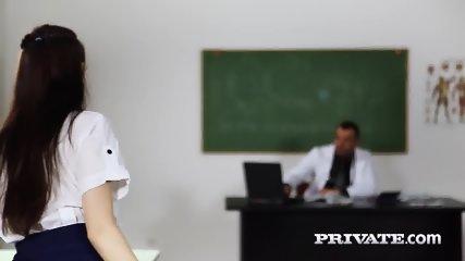 Private.com - Trainee Nurse Cassie Fire Rides Her Teacher - scene 2