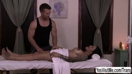 TS Foxxy have anal sex with her guy for their special day