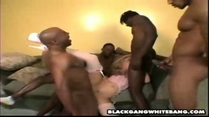 White slut in black sandwich - scene 8
