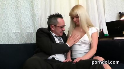 Lovable college girl is seduced and poked by her older teacher