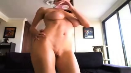 Girl Plays With Her Oiled Boobs - scene 1