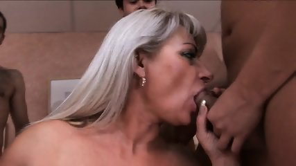 Gang Bang With Russian Granny - scene 2