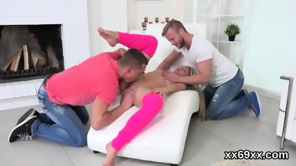Bf assists with hymen examination and pounding of virgin girl
