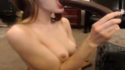 Cute Girl Plays With Her Dildo On Cam - scene 4