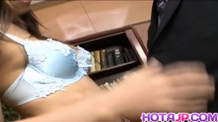Tempting Kaoru Hayami gets her hairy pussy fingered and licked
