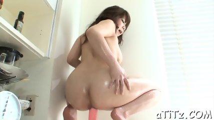 Delightful Japanese titty fuck - scene 9